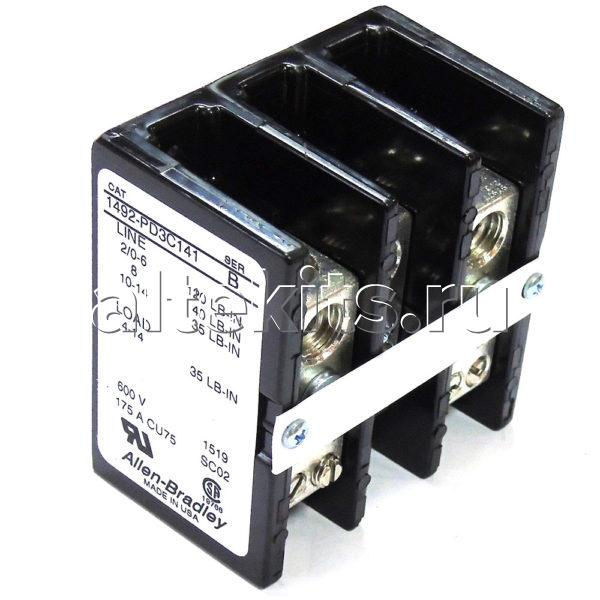 Блок Питания Трёхполюсной, XP 4302-3, 3 Pole Power Block Electric, ALLEN BRADLEY, 1492-PD3C141, 600 V, 73×69,9×47,8